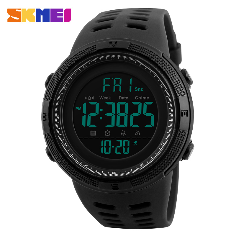 Men Sports Watches Countdown Double Time Watch