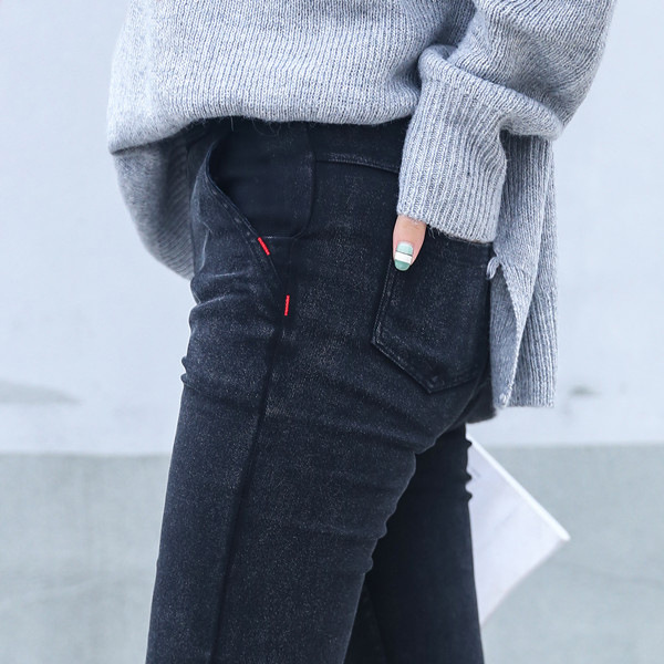 Skinny Jeans Elastic Denim Trousers