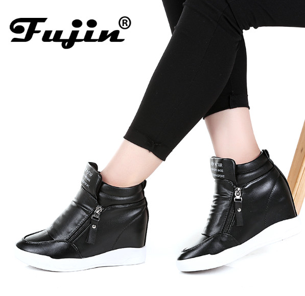 Wedge Heel Boots Women Shoes