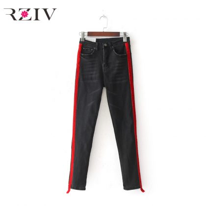 Woman Casual Skinny Jeans Trouser