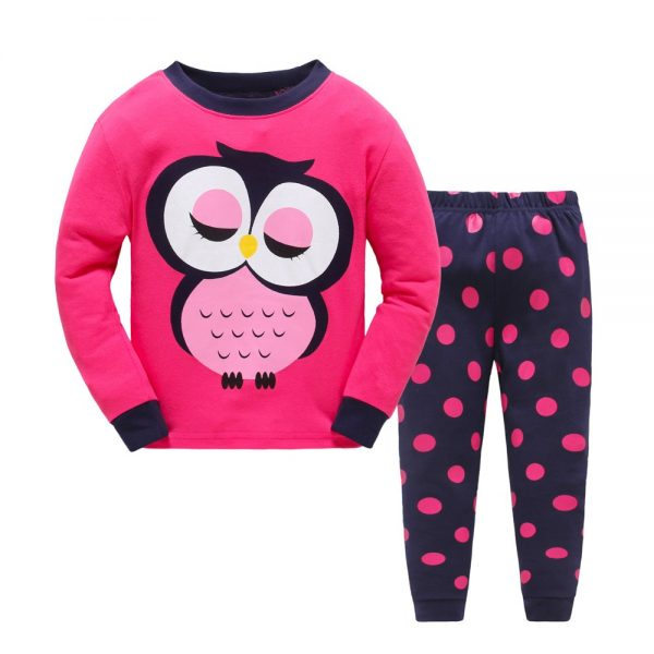 Children Cartoon Pajamas Clothing Sets