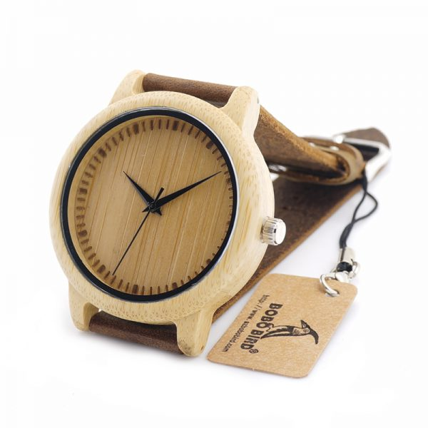 Ladies Casual Quartz Watches Natural Bamboo Watch