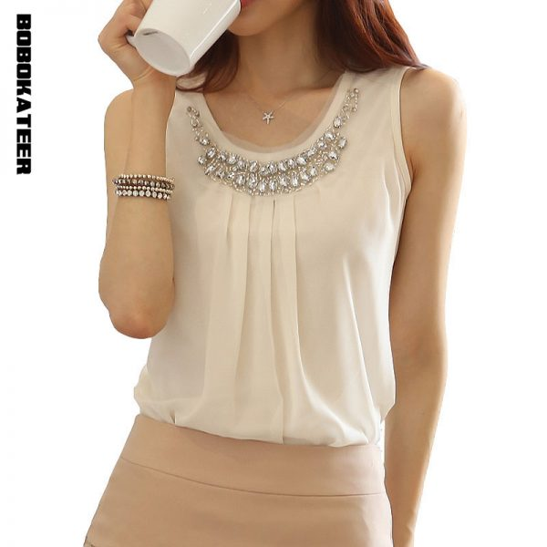 Summer Tops Women Chiffon Blouses