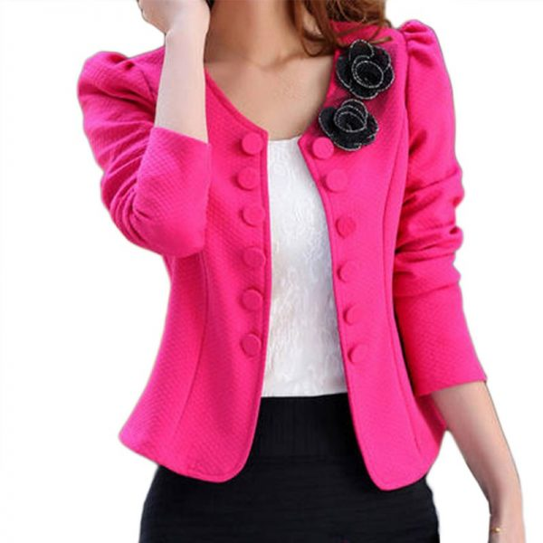 Women Fashion Blazer Long Sleeved Bleiser