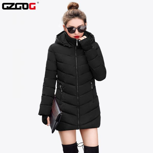 Fashion Wadded Jacket Long Sleeve Coat