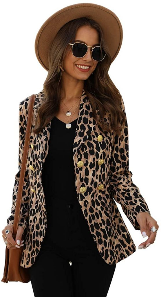 How to Wear a Leopard Blazer