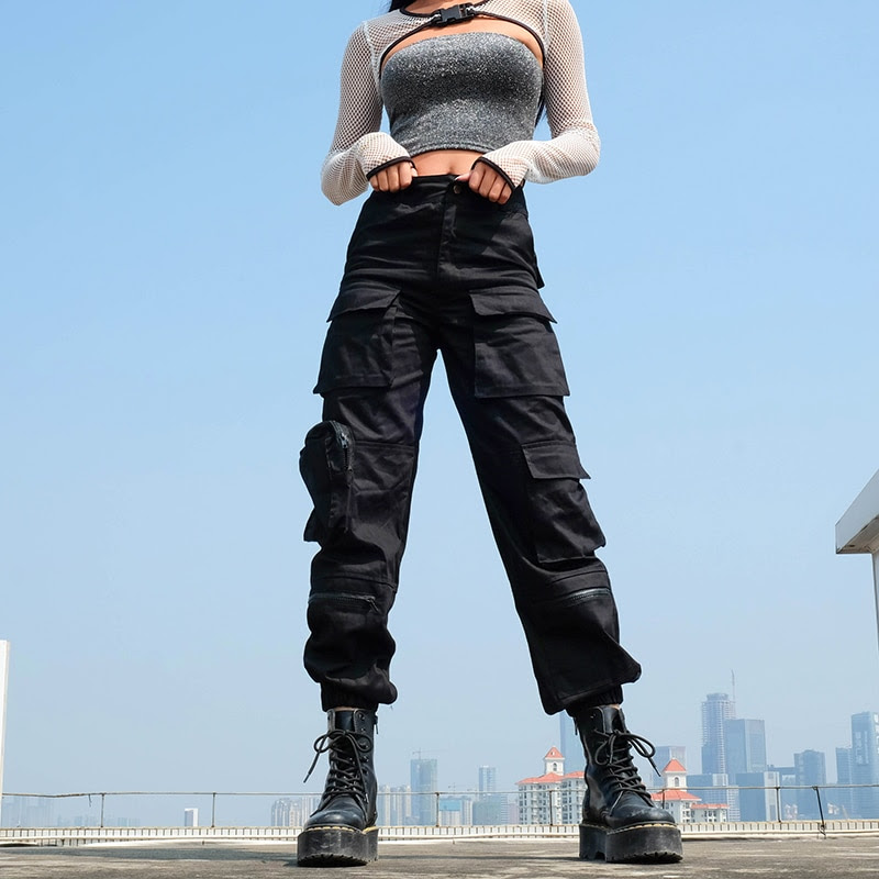 Black Cargo Pants - Great For Work or Play
